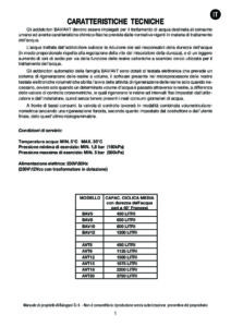 BALUGANI BAV5 BAV8 - MANUALE D USO