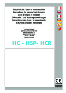 HOONVED SERIE HC - HSP- HCR - MANUALE D USO