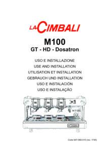 LA CIMBALI M100 - MANUALE D USO