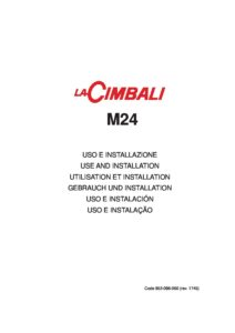 LA CIMBALI M24 - MANUALE D USO