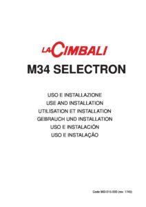 LA CIMBALI M34 - MANUALE D USO