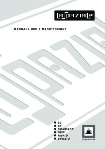 LA SPAZIALE S3 S5 - MANUALE D USO
