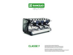 RANCILIO CLASSE 7 - MANUALE D USO