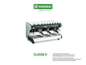 RANCILIO CLASSE 9 - MANUALE D USO