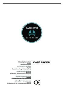 SANREMO CAFE RACER - MANUALE D USO