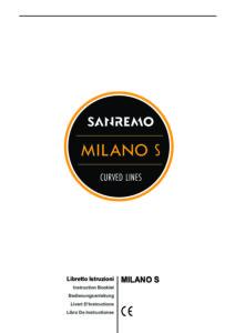 SANREMO MILANO - MANUALE D USO