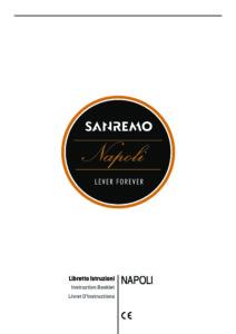 SANREMO NAPOLI - MANUALE D USO