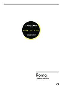 SANREMO ROMA - MANUALE D USO